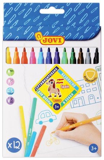 Фломастеры 12 цветов  Jovi