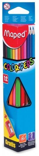 Карандаши цветные 12 цветов Color Pep's  Maped