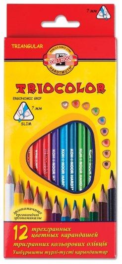 Карандаши цветные 12 цветов Triocolor  Koh-i-noor