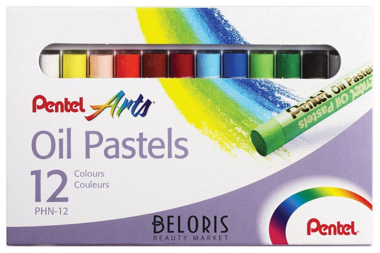 Пастель масляная художественная 12 цветов Oil Pastels Pentel
