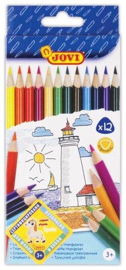Карандаши цветные трехгранные, 12 цветов  Jovi