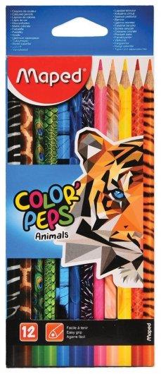 Карандаши цветные 12 цветов Color Pep's Animals  Maped