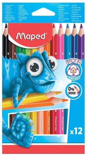 Карандаши цветные утолщенные 12 цветов Pulse  Maped
