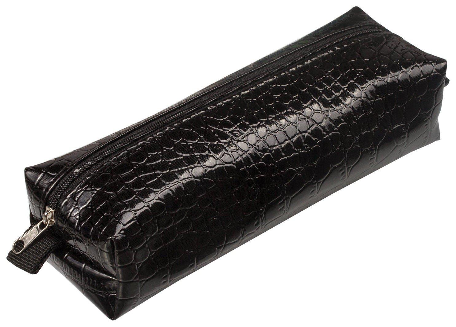 "Пенал-косметичка ""Ultra Black Крокодиловая кожа"", 20х6х4 см  Brauberg"