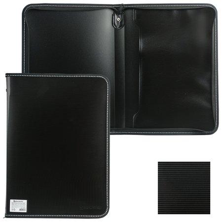 "Папка на молнии пластиковая Contract"", А4, 335х242 мм, внутренний карман  Brauberg"