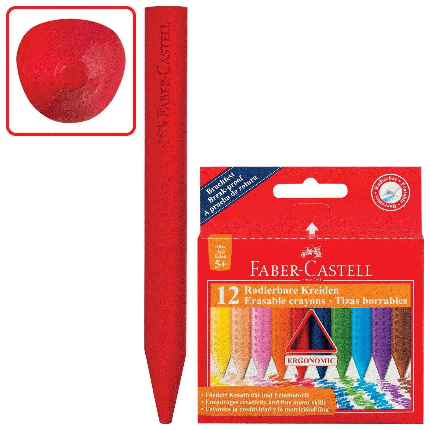 Мелки Grip трехгранные  Faber-castell