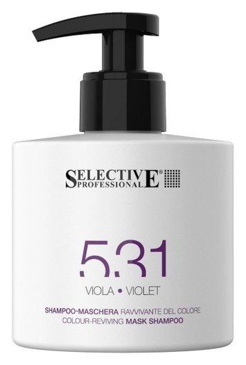 Шампунь-маска для возобновления цвета волос фиолетовый  Selective Professional