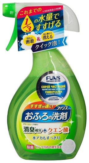 Спрей чистящий для ванной комнаты с ароматом свежей зелени  Funs