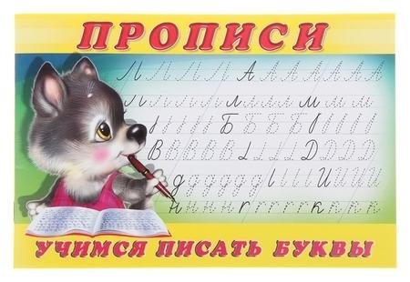 Пропись «Учимся писать буквы»  Издательство Фламинго