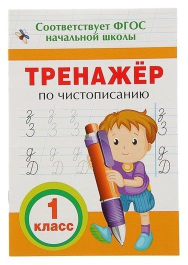 """Прописи """"Тренажёр по чистописанию. 1 класс""""  Росмэн"""