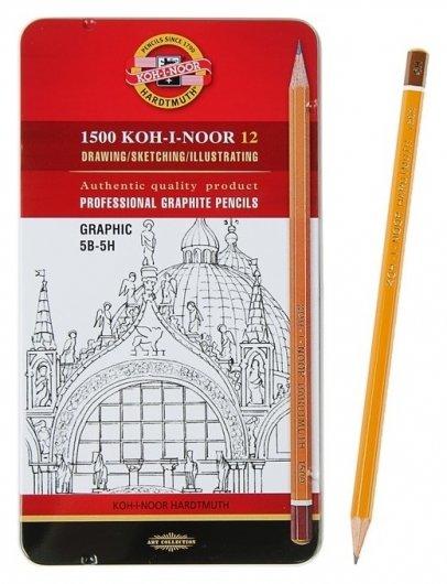 Набор чернографитных карандашей 1500 График  Koh-i-noor
