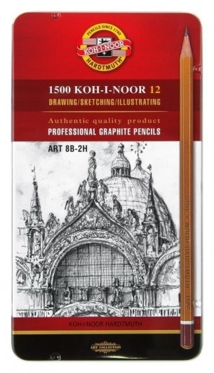 Набор чернографитных карандашей 1500 Арт  Koh-i-noor