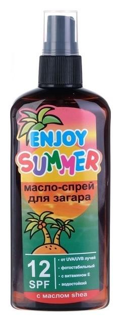 Масло для загара Spf 12 Масло ши  Enjoy summer