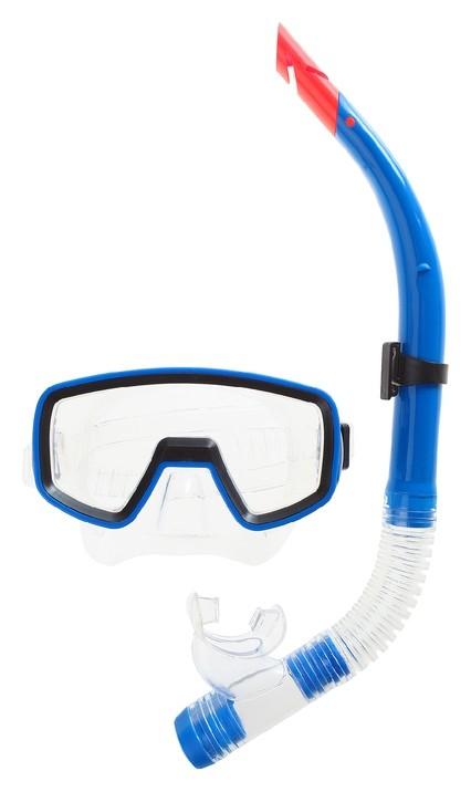 Набор для плавания маска и трубка в пакете  Onlitop