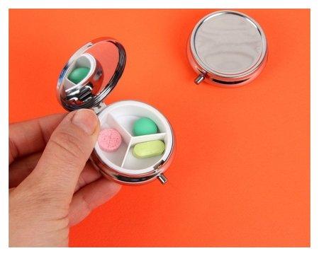 Таблетница с зеркальной поверхностью, 3 секции