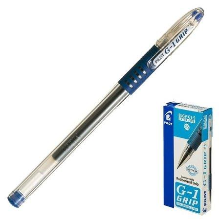 Ручка гелевая G1 Grip, узел 0.5 мм, чернила синие, резиновый упор  Pilot