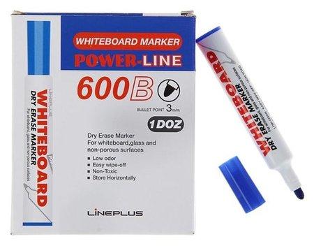 Маркер для доски 3.0 мм 600B синий  Line Plus