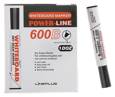 Маркер для доски 3.0 мм, 600B, чёрный  Line Plus