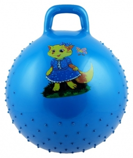 """Мяч прыгун с ручкой """"Девчонки и мальчишки"""" массажный диаметр 55 см  КНР Игрушки"""