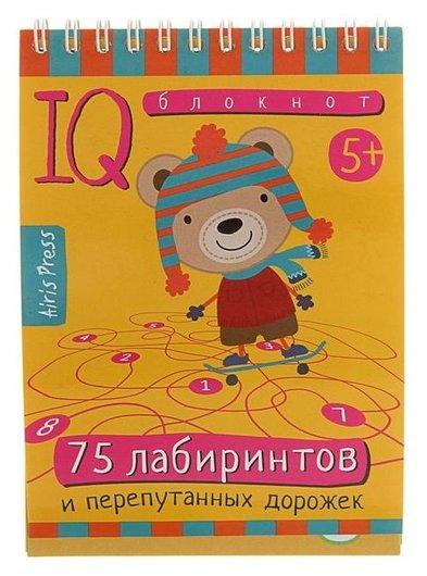 Умный блокнот 75 лабиринтов  Издательство Айрис-пресс