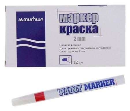 Маркер-краска (лаковый) 2.0 Slim красная, нитро-основа  Munhwa