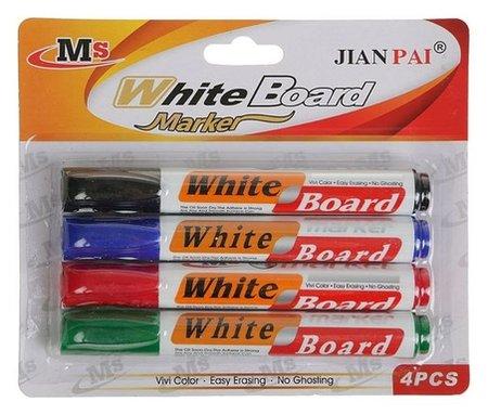Набор маркеров для флипчарта, 4 цвета, 3 мм  КНР