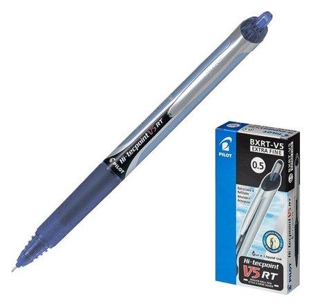 Ручка-роллер автоматическая Pilot Hi-tecpoint V5 Rt, узел-игла 0.5мм, линия 0.25мм, чернила синие  Pilot