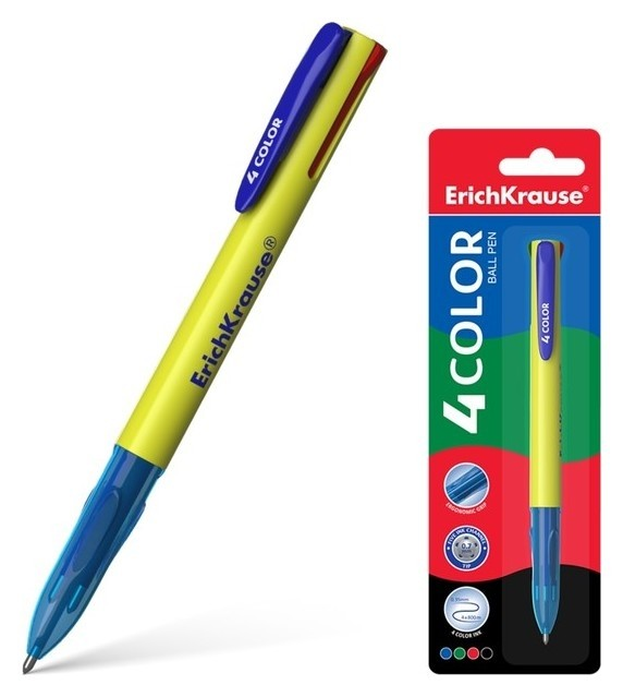 Ручка шариковая автоматическая 4 COLOR  Erich krause
