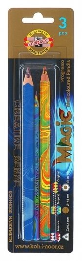 Набор Magic: карандаш, восковой мелок, карандаш в лаке  Koh-i-noor