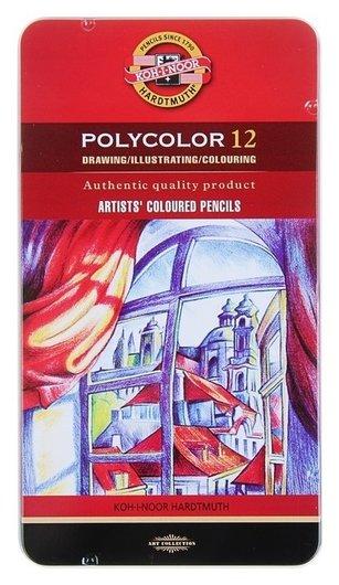 Карандаши художественные 12 цветов Polycolor  Koh-i-noor