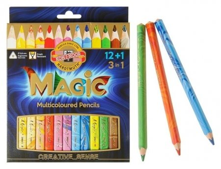 Карандаши с многоцветным грифелем 13 штук Magic  Koh-i-noor