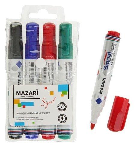 Набор маркеров для доски 4 цвета 4.0 мм Signal  Mazari