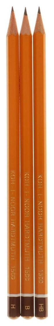 Набор карандашей чернографитных разной твердости  Koh-i-noor