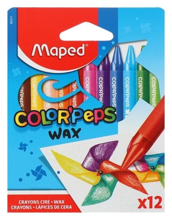 Мелки восковые 12 цветов Color Peps Wax Maped