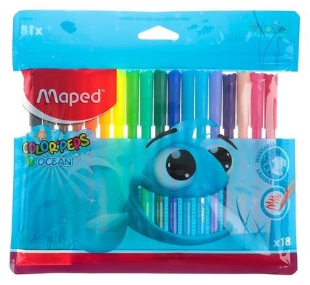 Фломастеры 18 цветов Color Peps Ocean  Maped