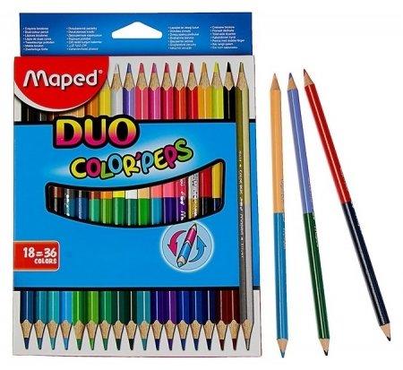 Карандаши 36 цветов 18 штук Color Peps  Maped
