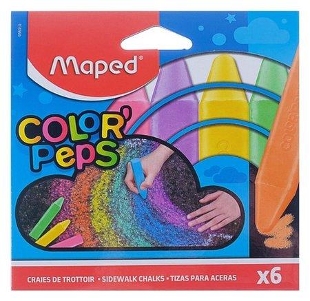 Мелки цветные для асфальта 6 штук  Maped