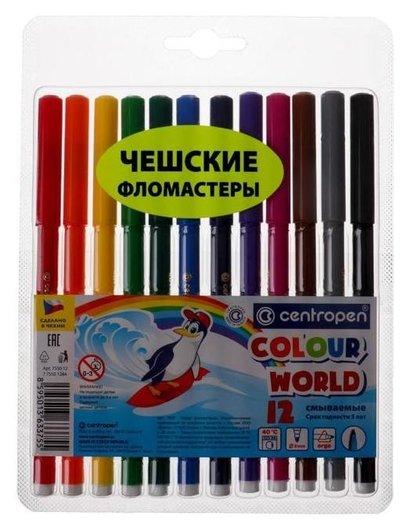 Фломастеры 12 цветов Colour World  Centropen