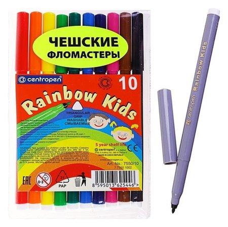 Фломастеры 10 цветов Rainbow Kids  Centropen
