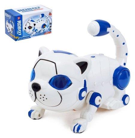 Игрушка-робот «Кошка», работает от батареек, световые и звуковые эффекты, микс  КНР Игрушки