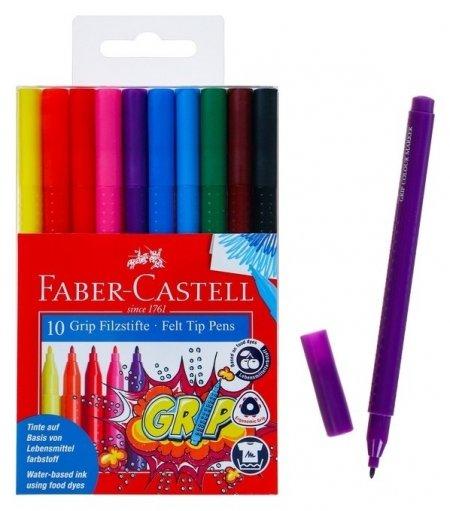 Фломастеры 10 цветов Grip  Faber-castell