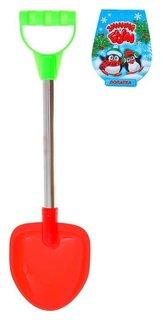 Лопатка с металлической ручкой 40 см, цвета микс