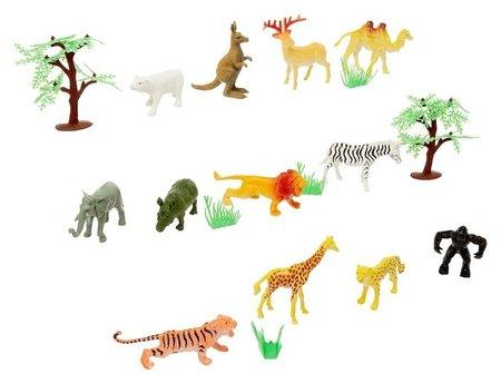 Набор животных с аксессуарами «Дикая природа» КНР Игрушки