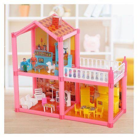 Дом для куклы двухэтажный с аксессуарами  КНР Игрушки