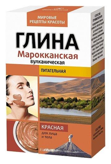 """Глина красная """"Марокканская вулканическая""""  Фитокосметик"""
