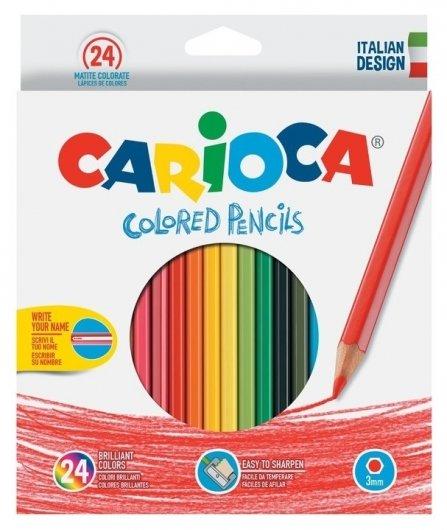 Карандаши цветные, 24 цвета  Carioca