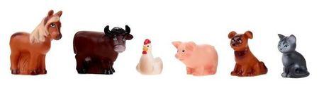 Резиновая игрушка «Набор домашних животных»  Весна Игрушки