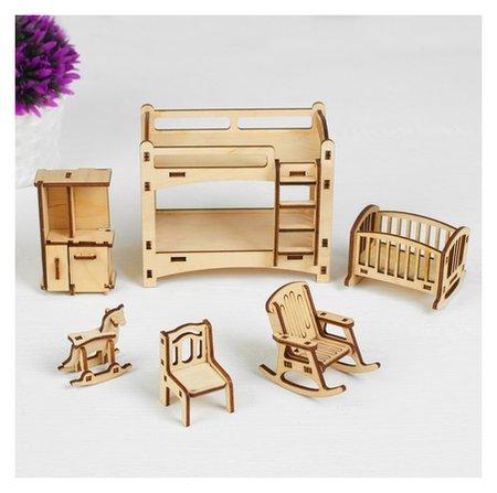 Набор мебели Детская, 6 предметов, конструктор  Polly