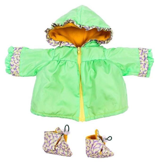 Одежда для кукол Плащ теплый с пинетками, микс  Colibri