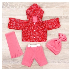 Одежда для кукол Комплект Тёплый из 4-х предметов, микс